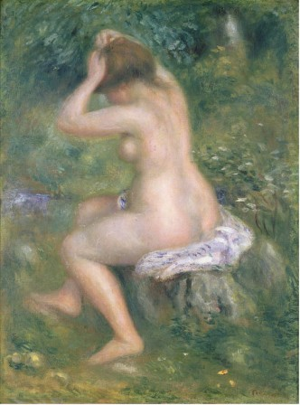 A Bather c1885 - Pierre Auguste Renoir Painting