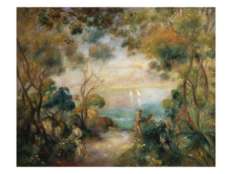 A Garden in Sorrento - Pierre Auguste Renoir Painting