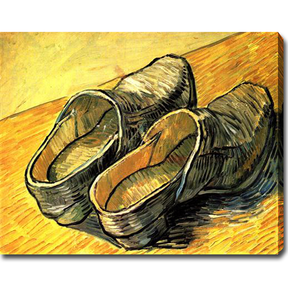 A Pair of Leather Clogs-Vincent Van Gogh oil on canvas