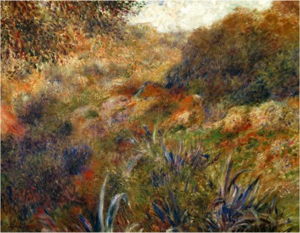 Algerian Landscape the Gorge of the Femme Sauvage 1881 - Pierre Auguste Renoir Painting