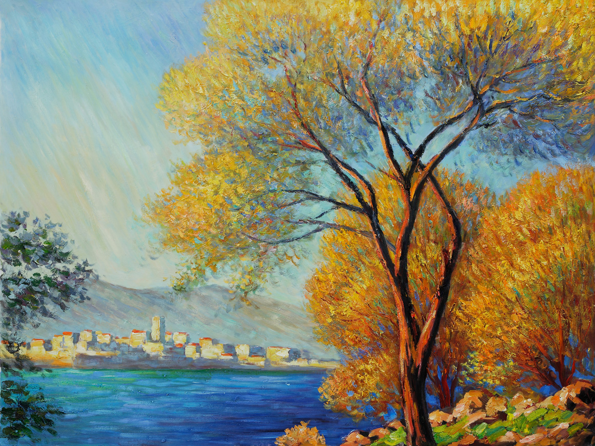 Antibes view of salis claude monet 39 s paintings for sale for Monet paintings images