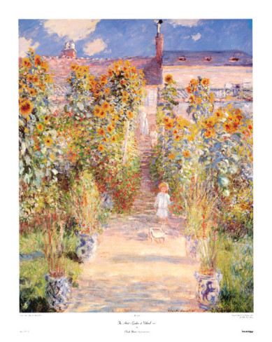Artists Garden Vetheuil-Claude Monet Painting