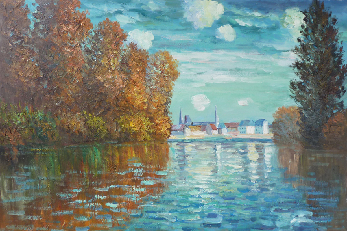 Autumn At Argenteuil-Claude Monet Painting