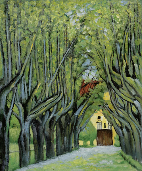 Avenue In Schloss Kammer Park - Gustav Klimt Painting