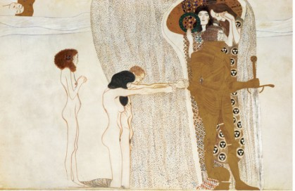 Beethoven Frieze Desire For Happiness, C.1902 - Gustav Klimt Painting