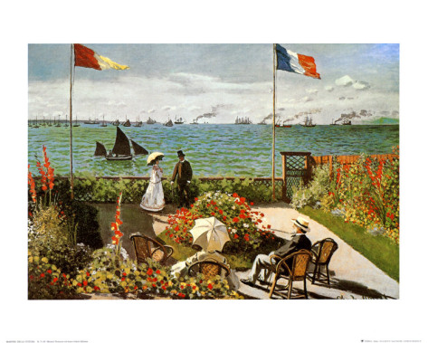 Balcony On The Sea At Saint Adresse-Claude Monet Painting