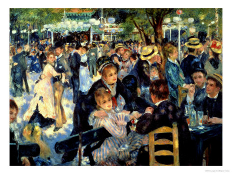 Ball at the Moulin De La Galette, 1876 - Pierre Auguste Renoir Painting
