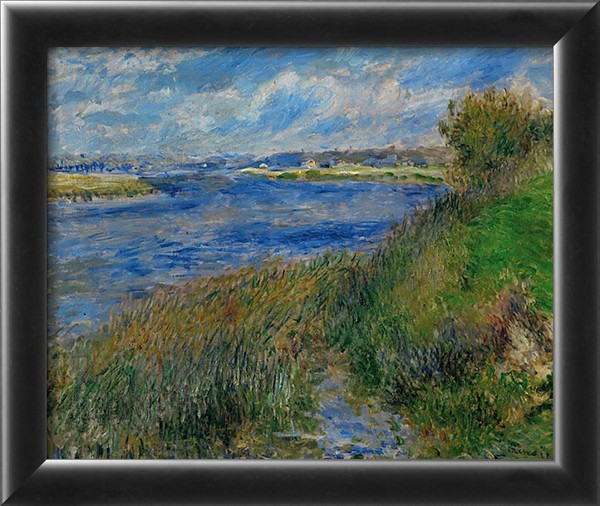 Banks of the Seine River at Champrosay, c.1876 - Pierre Auguste Renoir Painting