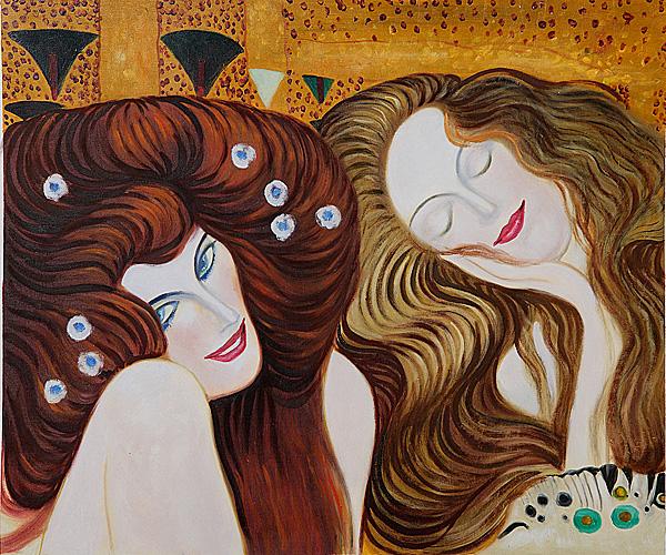 Beethoven Frieze Detail, Gustav Klimt\'s paintings for sale on ...