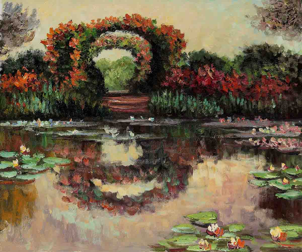 Blutentore In Giverny-Claude Monet Painting