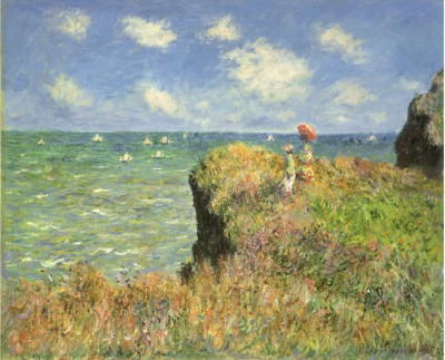 Cliff Walk At Pourville, 1882-Claude Monet Painting