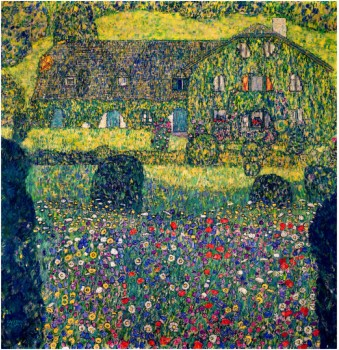 Country House On Attersee Lake, Upper Austria, 1914 - Gustav Klimt Painting