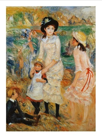 Children on the Seashore, Guernsey - Pierre Auguste Renoir Painting
