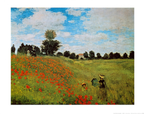 Corn Poppies-Claude Monet Painting