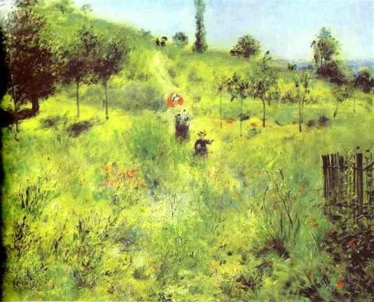 Country Footpath in the Summer - 1874 - Pierre Auguste Renoir Painting