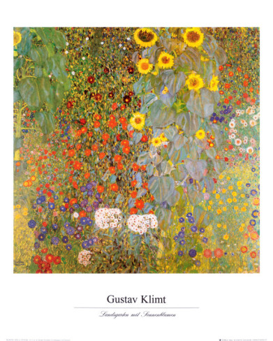 Country Garden With Sunflowers - Gustav Klimt Painting