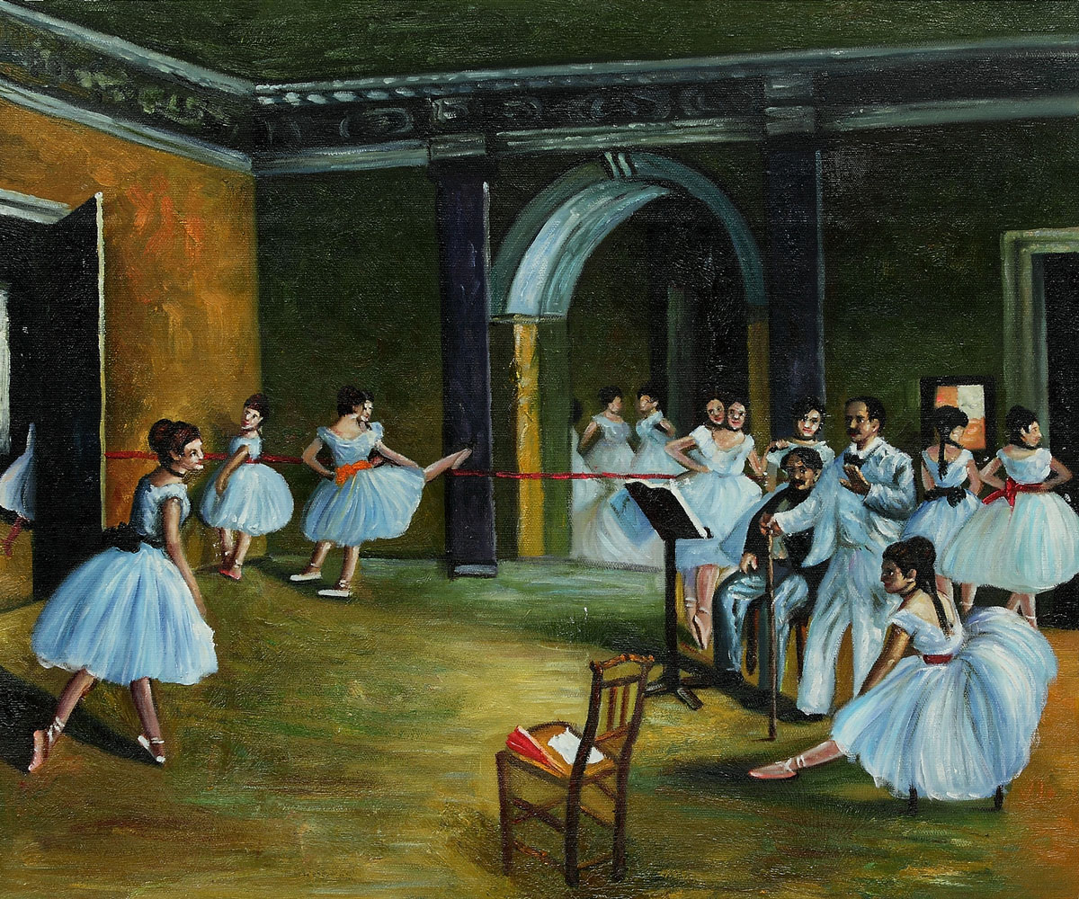 Dance Studio at the Opera by Edgar Degas [E130408P0004]