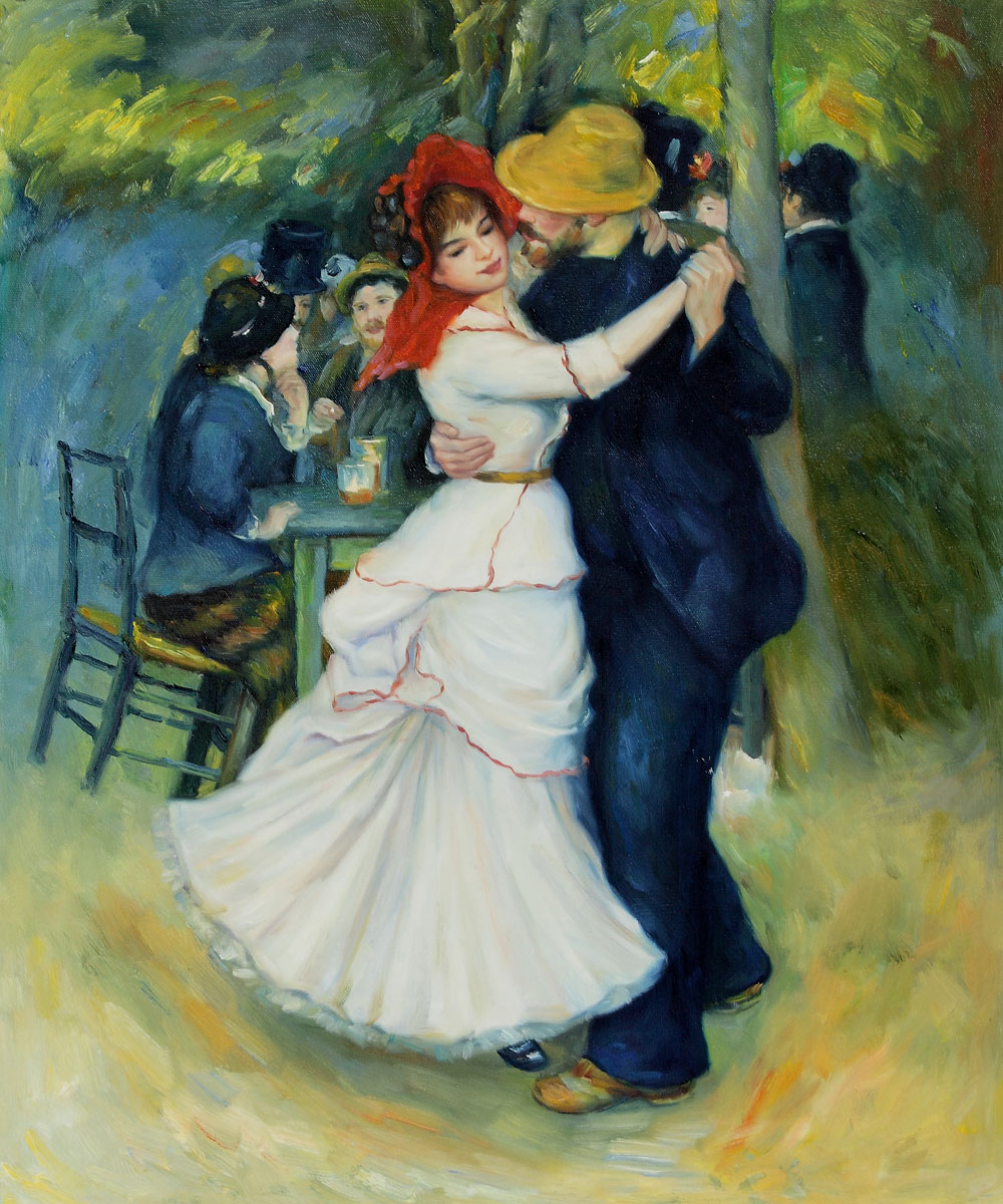 Dance at Bougival Art - Pierre Auguste Renoir Painting