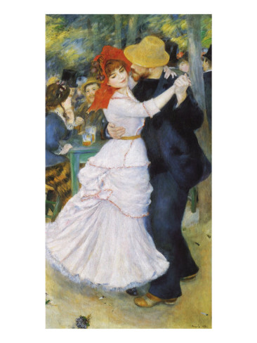 Dance at Bougival, 1883 - Pierre Auguste Renoir Painting