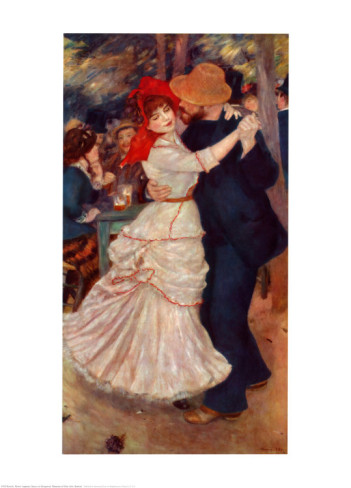 Dance at Bougival - Pierre Auguste Renoir Painting