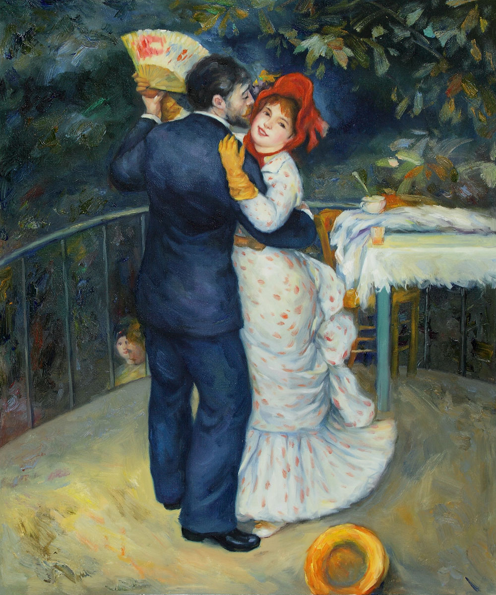 Dance in the Country - Pierre Auguste Renoir Painting