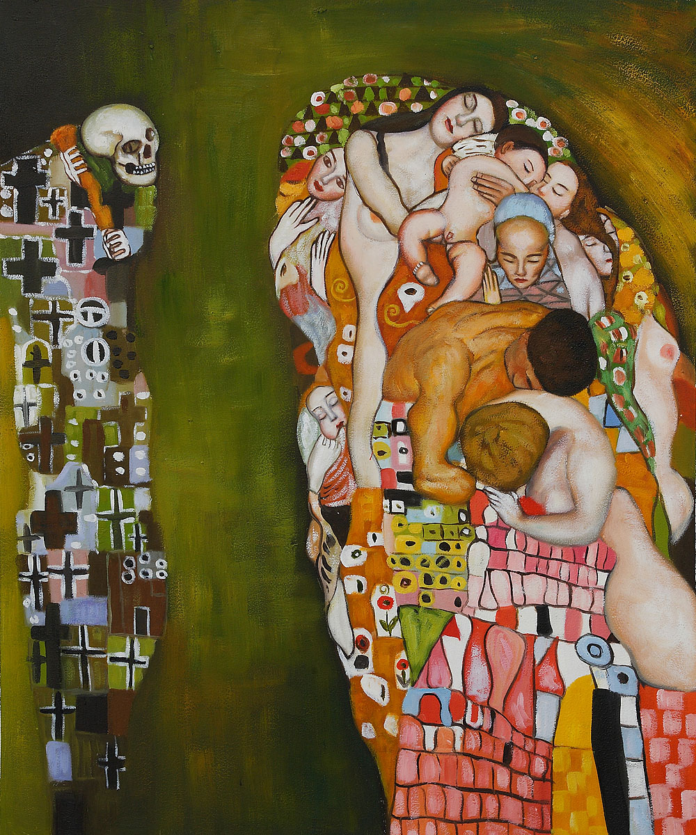 Death And Life - Gustav Klimt Painting