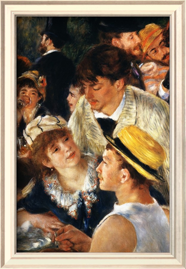 Detail Showing Figures from The Luncheon of the Boating Party - Pierre Auguste Renoir Painting