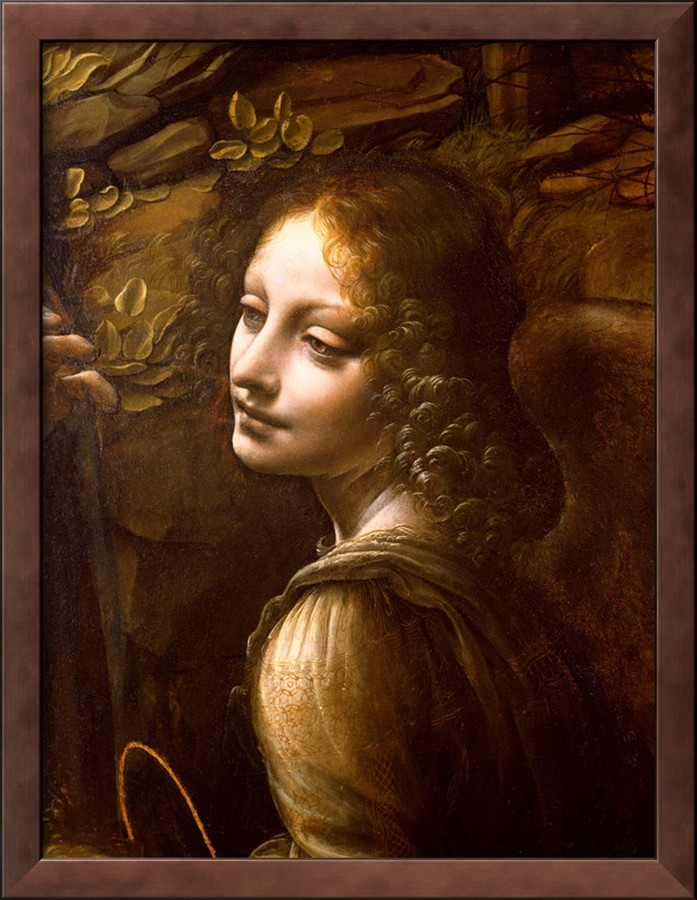 Detail Of The Angel, From The Virgin Of The Rocks - Leonardo Da Vinci Painting
