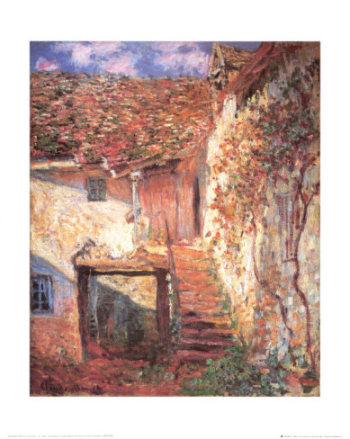 Die Treppe-Claude Monet Painting