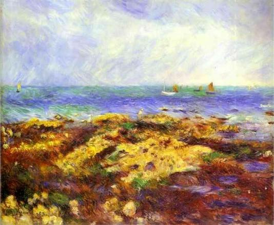 Ebbing Tide at Yport - 1883 - Pierre Auguste Renoir Painting