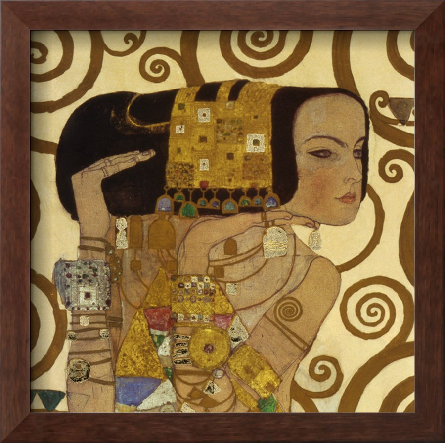Expectation, Stoclet Frieze, C.1909 Detail - Gustav Klimt Painting