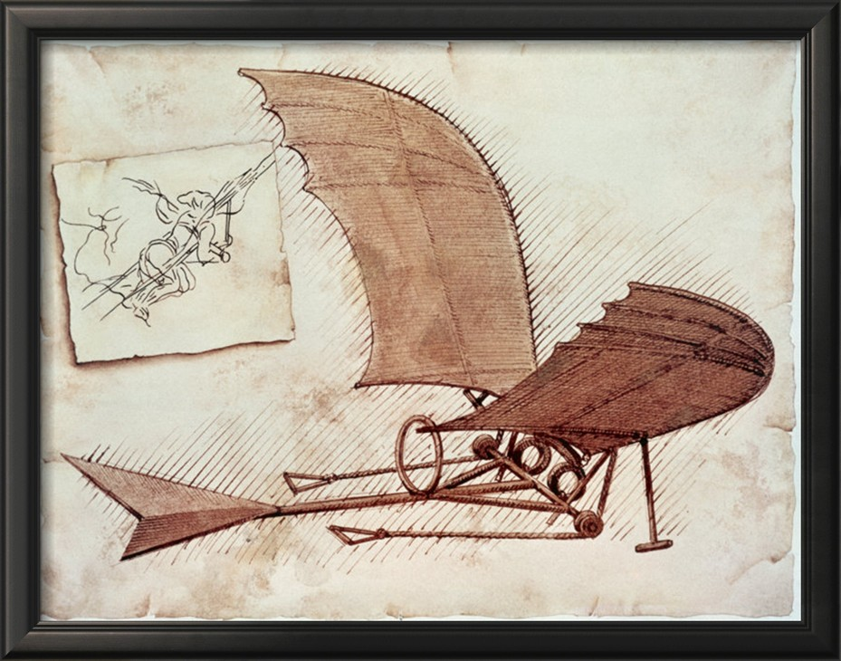 Flying Machine - Leonardo Da Vinci Painting