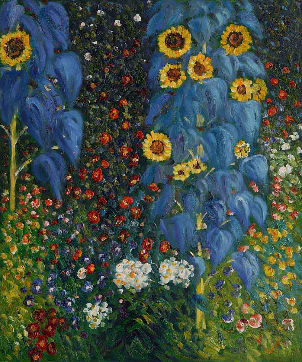 Farm Garden With Sunflowers - Gustav Klimt Painting