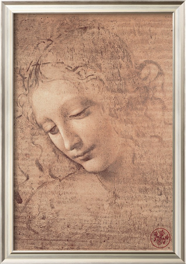 Female Head Full La Scapigliata, C.1508 - Leonardo Da Vinci Painting