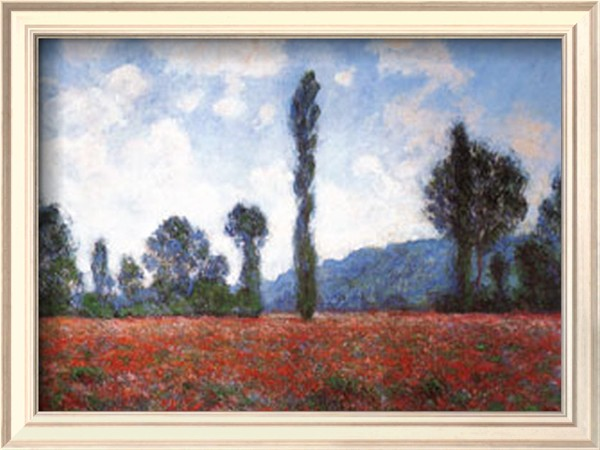 Field Of Poppies-Claude Monet Painting
