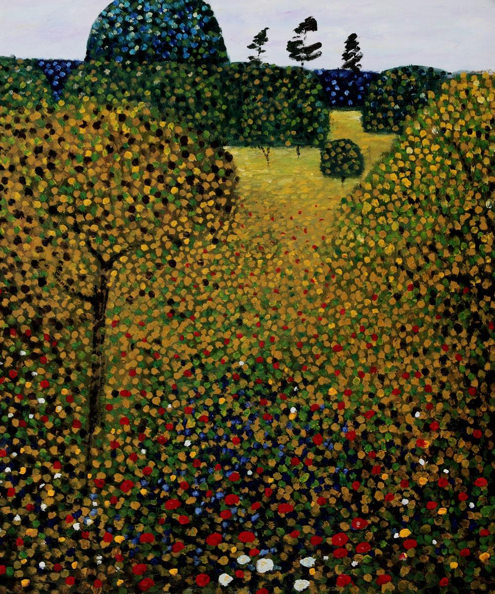 Field Of Poppies Gustav Klimt Painting