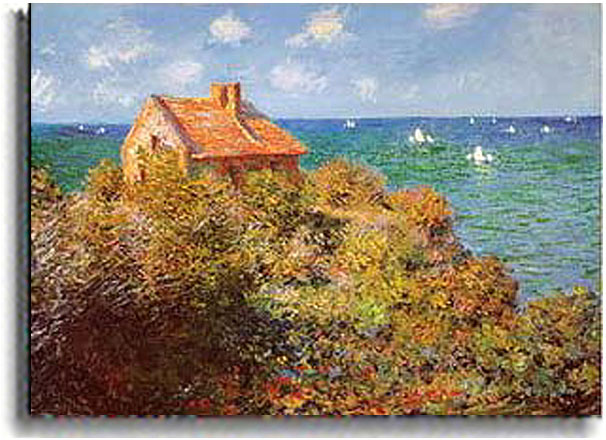 Fisherman's Cottage On The Cliffs-Claude Monet Painting
