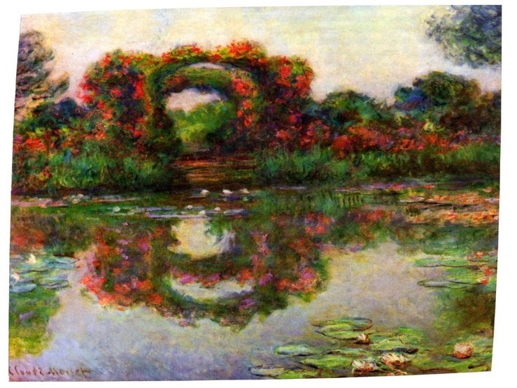 Foliage Trestle-Claude Monet Painting