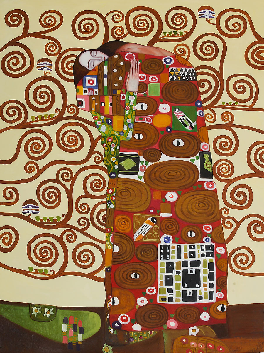 Fulfillment The Embrace - Gustav Klimt Painting