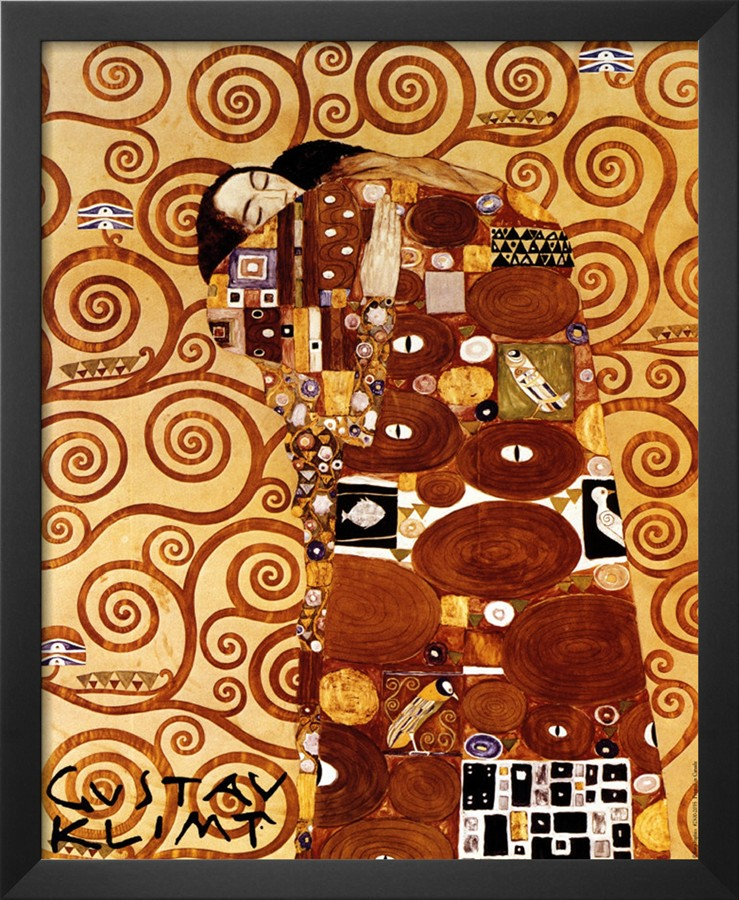 Fulfillment, Stoclet Frieze, C.1909 - Gustav Klimt Painting