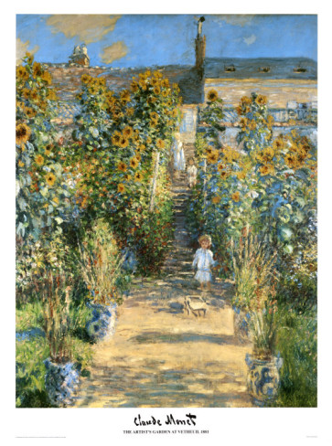 Garden At Vetheuil, 1881-Claude Monet Painting