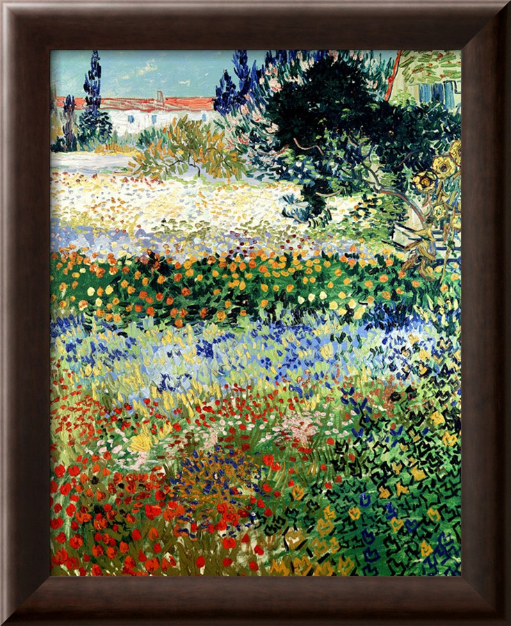 Garden In Bloom, Arles   Vincent Van Gogh Paintings