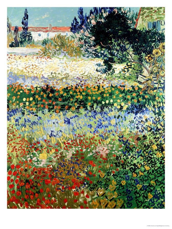Garden in Bloom, Arles - Vincent Van Gogh Paintings