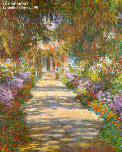 Garden In Giverny-Claude Monet Painting