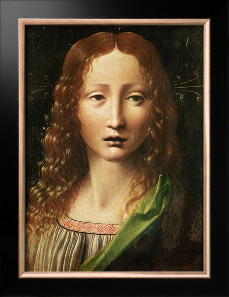 Head Of The Saviour - Leonardo Da Vinci Painting