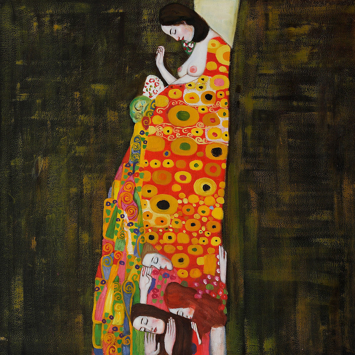 Hope Ii Full View - Gustav Klimt Painting
