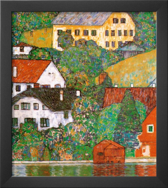 Houses At Unterach - Gustav Klimt Painting