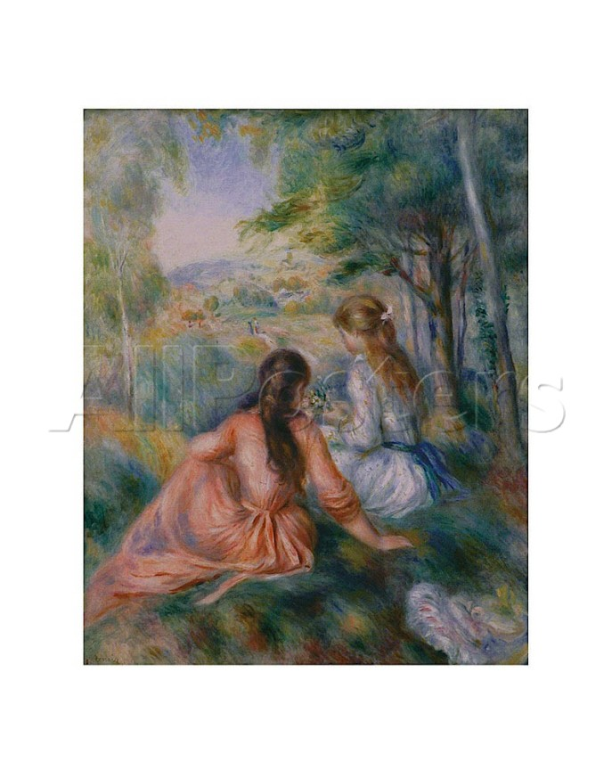 In the Meadow - Pierre Auguste Renoir Painting