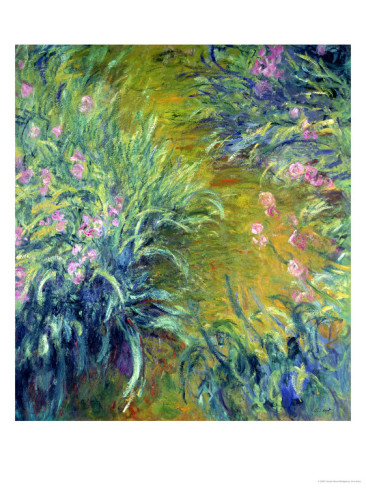 Iris-Claude Monet Painting