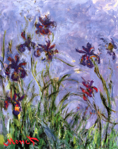 Irises-Claude Monet Painting